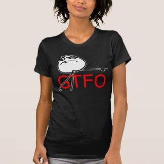 GTFO gehen Typ-Raserei-Gesichts-Comic Meme hinaus T Shirts