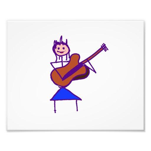 gtr Lila des weiblichen Gitarren-Strichmännchen-Br Photographie