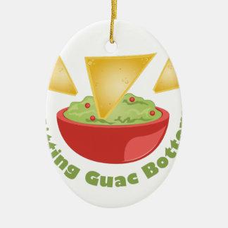 Guac Botom Ovales Keramik Ornament