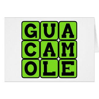 Guacamole, Avocado-Bad Karte