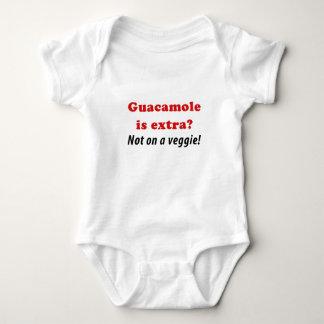 Guacamole ist nicht auf einem Veggie Extra Baby Strampler
