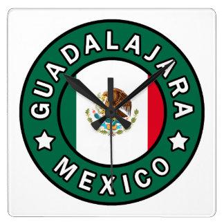 Guadalajara Mexiko Quadratische Wanduhr