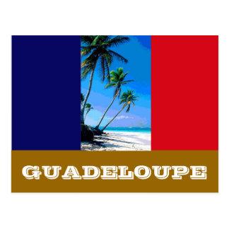 Guadeloupe-Flagge Postkarte