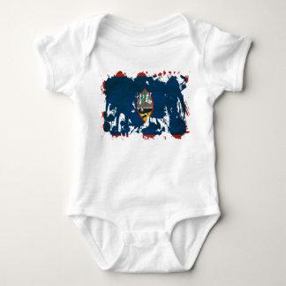 Guam-Flagge Baby Strampler