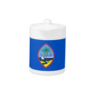 Guam-Flaggen-Teekanne