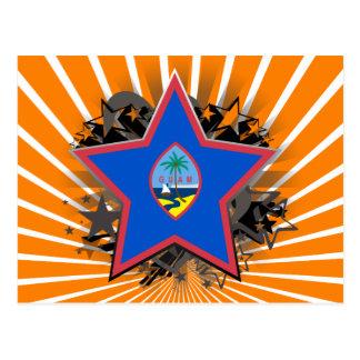 Guam-Stern Postkarte