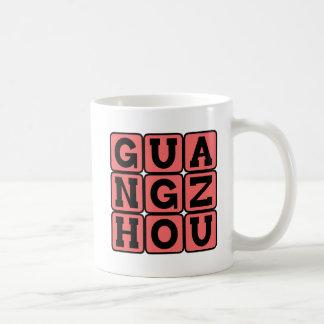 Guangzhou, Bezirk, Stadt in der China Kaffeetasse