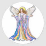 Guardian Angel Blessing Round Stickers