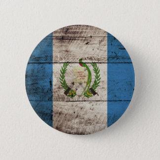 Guatemala-Flagge auf altem hölzernem Korn Runder Button 5,7 Cm
