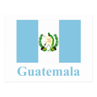 Guatemala-Flagge mit Namen Postkarte