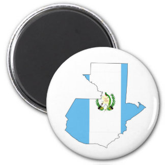 Guatemala-Landflaggen-Kartenform-Silhouettesymbol Runder Magnet 5,7 Cm