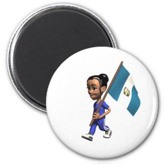 Guatemala-Magnet Runder Magnet 5,7 Cm