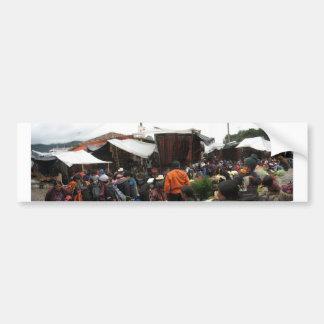 Guatemala-Markt Autoaufkleber