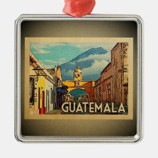 Guatemala-Verzierungs-Vintage Reise Silbernes Ornament