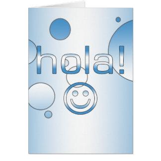 Guatemaltekische Geschenke: Hallo/Hola + Smiley Karte