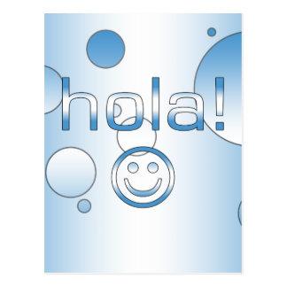 Guatemaltekische Geschenke: Hallo/Hola + Smiley Postkarte