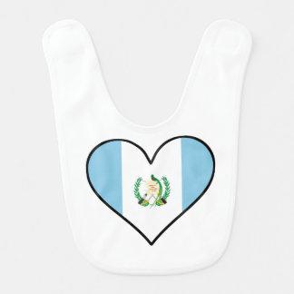 Guatemaltekisches Flaggen-Herz Babylätzchen