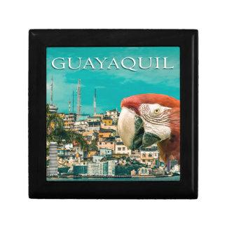 Guayaquiltouristischer Postentwurf Schmuckschachtel