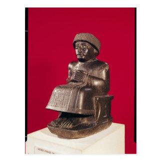 Gudea, Prinz von Lagash, weihte ein Postkarte