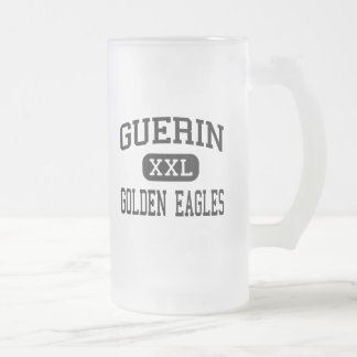 Guerin - goldenes Eagles - Katholischer - Mattglas Bierglas