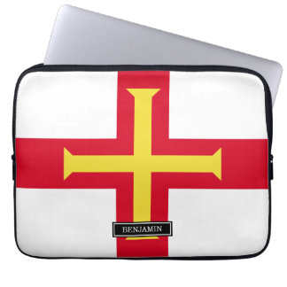 Guernsey-Flagge Laptop Sleeve