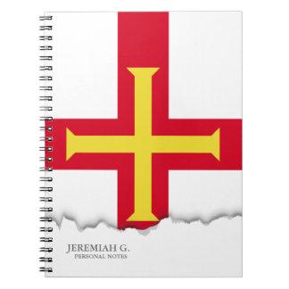 Guernsey-Flagge Notizblock