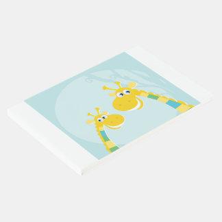 Guestbook mit niedlichen gelben Giraffen Gästebuch
