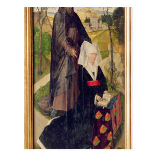 Guillemette de Montagu mit Heiligem Guillaume Postkarte