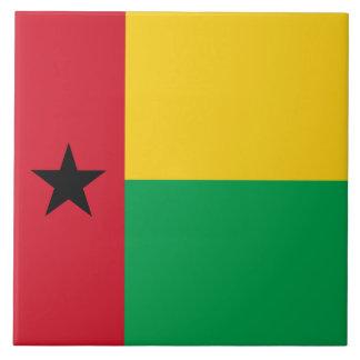 Guinea-Bissau Flagge Keramikfliese