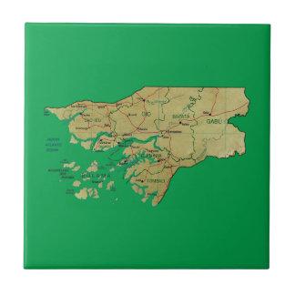 Guinea-Bissau Karten-Fliese Fliese
