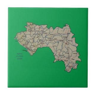 Guinea-Conakry Karten-Fliese Fliese