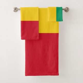 Guinea-Flagge Badhandtuch Set