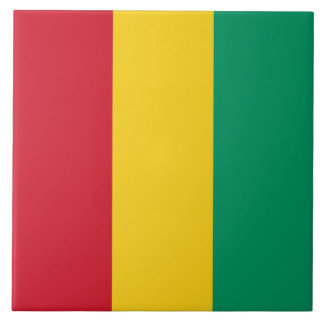 Guinea-Flagge Keramikfliese