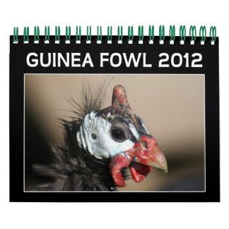 Guinea-Geflügel-Kalender für 2012 Wandkalender