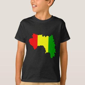 Guineaflaggenkarte T-Shirt