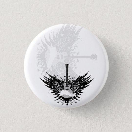 Guitar-Angel (Gitarren Engel) Runder Button 3,2 Cm