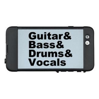 Guitar&Bass&Drums&Vocals (Schwarzes) LifeProof NÜÜD iPhone 6 Hülle