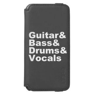 Guitar&Bass&Drums&Vocals (weiß) Incipio Watson™ iPhone 6 Geldbörsen Hülle