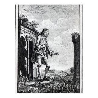Gulliver unter den Lilliputians Postkarte