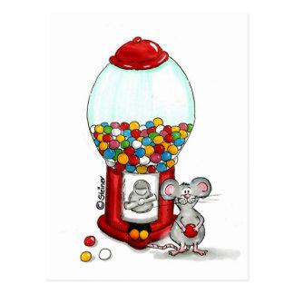 Gumball Entwurf mit niedlicher kleiner Maus Postkarte