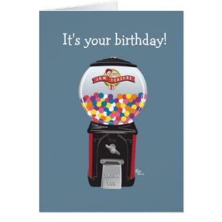 Gumball Maschinen-Geburtstags-Karte Grußkarte
