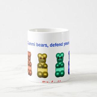 gummi Bären, verteidigen sich Kaffeetasse