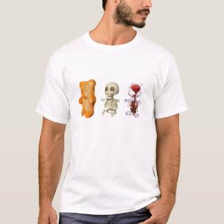 Gummi Bärn-Anatomie triptisches WEISS T-Shirt