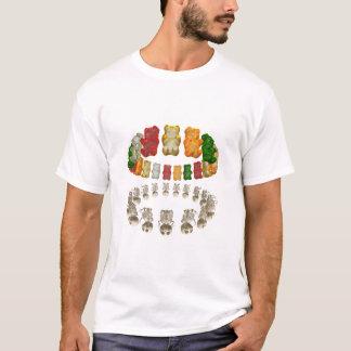 Gummi Halo-Reflexion WEISS T-Shirt
