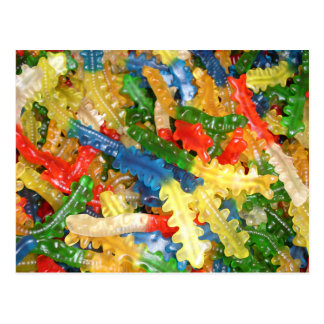 Gummi Hundertfüßer-Süßigkeit Postkarte