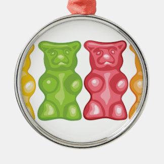 Gummiartige Bären Silbernes Ornament
