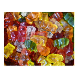 gummiartige Süßigkeit lecker Postkarte