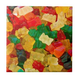 Gummiartiger Bärn-Regenbogen farbige Süßigkeit Kleine Quadratische Fliese