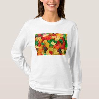 Gummiartiger Bärn-Regenbogen farbige Süßigkeit T-Shirt