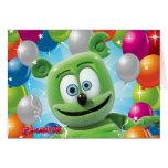 Gummibär (der gummiartige Bär) Geburtstags-Karte